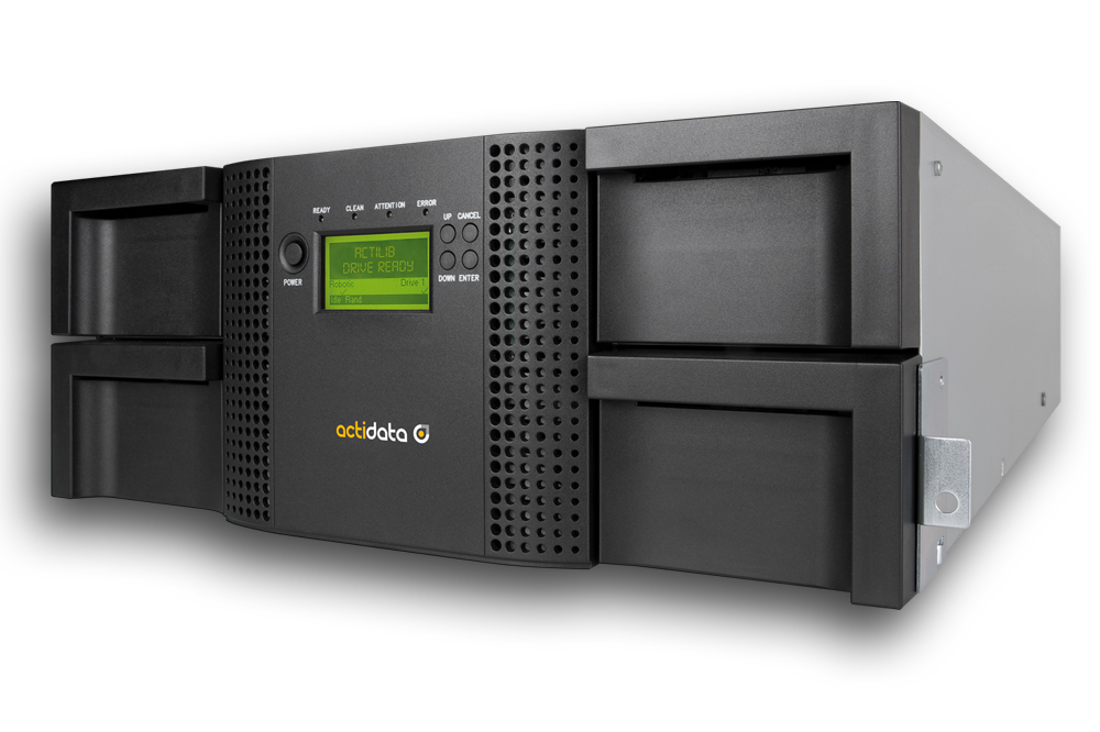 actiLib 4U Tape Library Side